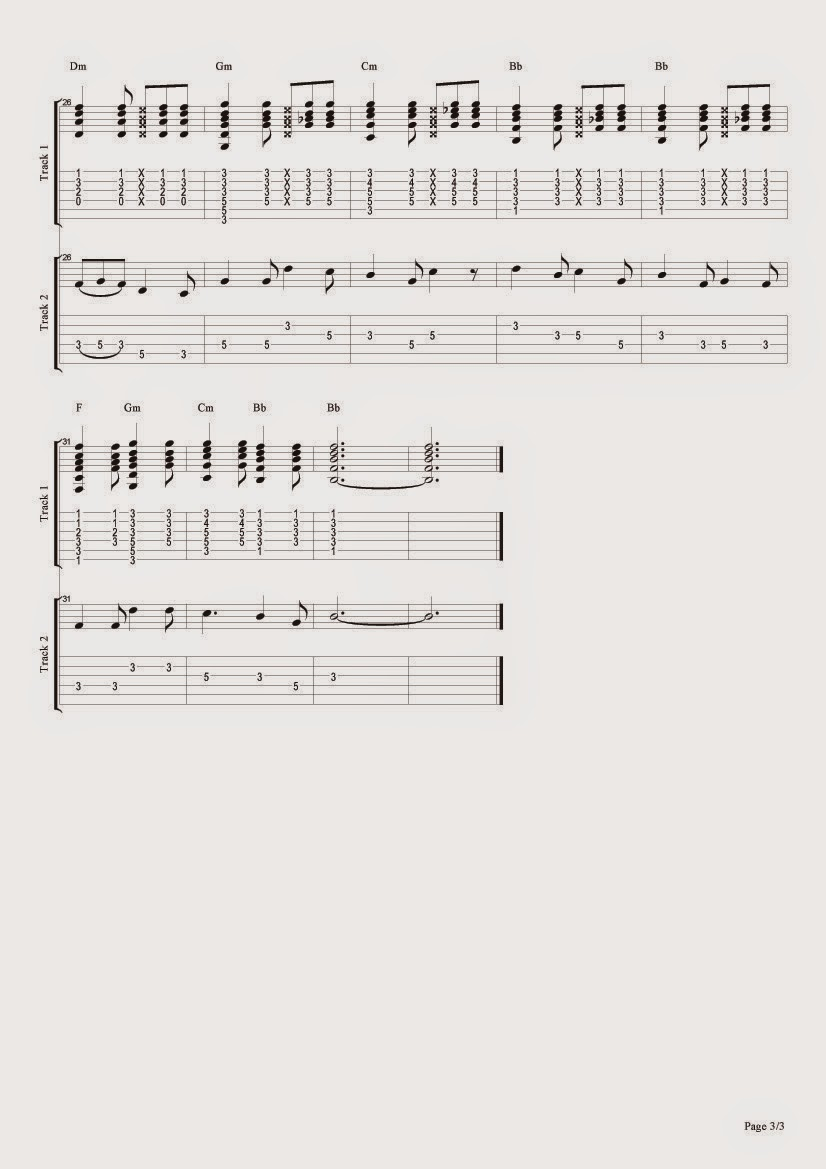 3 Sheet Music for Guitar Nepal National Anthem tablature and sheet music with chords
