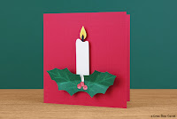 http://creabeacards.com/christmas-candle-card/
