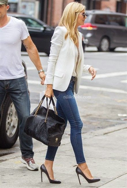 Kot Pantolon ve Topuklu Ayakkabı Kombinleri 2015