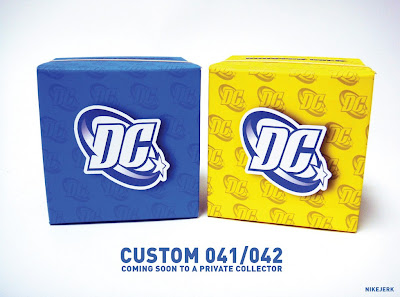 "Blue Beetle & Booster Gold 3"" Dunny Custom Packaging by Nikejerk"