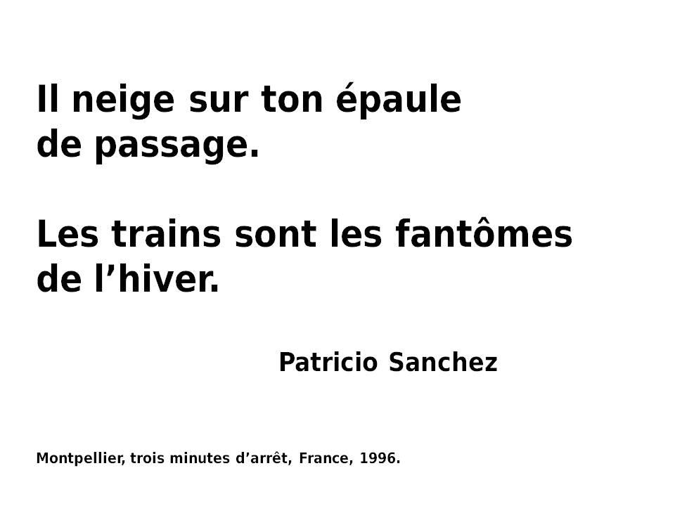 Patricio Sanchez  Rojas - Montpellier, trois minutes d'arrêt, 1996.-