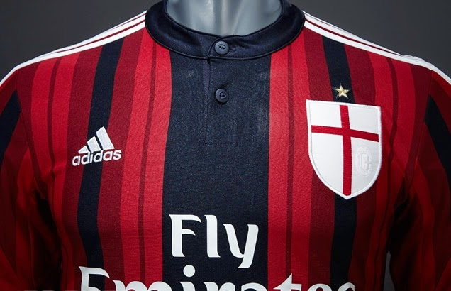 Ini tampilan baru jersey AC Milan Official musim 2014-2015