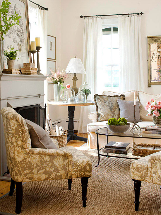 mix and chic cottage style decorating ideas - Cottage Decorating
