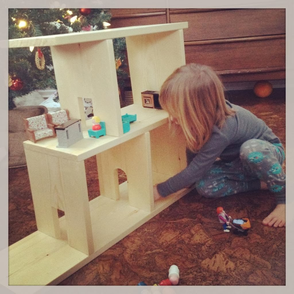 A Home Made Dollhouse.