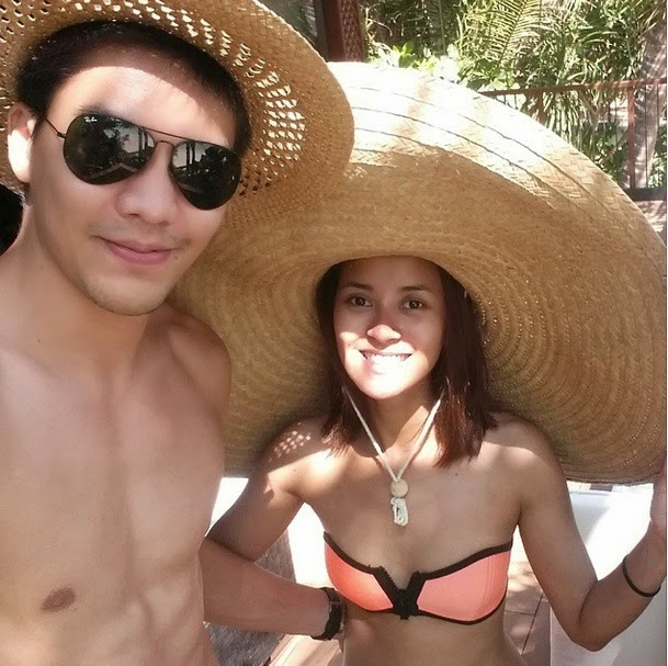 JC Intal and wife Bianca Gonzalez in Palawan