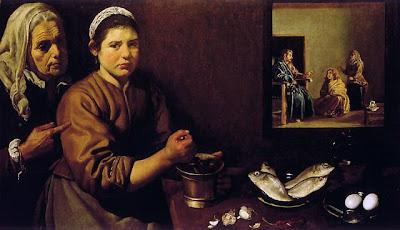 Diego Velasquez - le Christ chez Marthe et Marie; 1618
