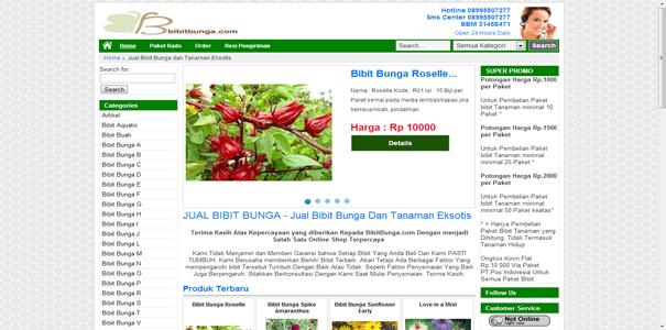Bibit , Bunga, polisi online
