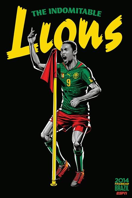 Poster keren world cup 2014 - Cameroon