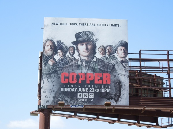 Copper season 2 BBC billboard