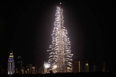 Fuochi d'artificio al Burj Khalifa