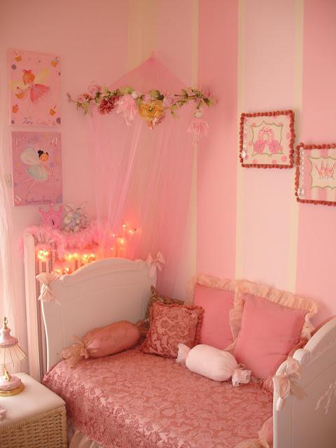 Cuartos de ni a en rosa dormitorios con estilo for Recamaras rosas