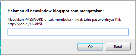 Script: Melindungi Halaman Blog dengan Password
