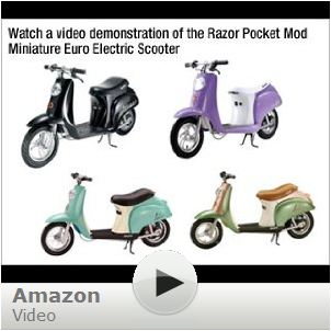 Razor Electric Pocket Mod Scooter Betty Purple