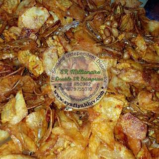 kerepek kentang dan tempe pedas