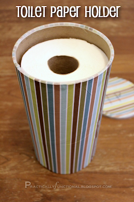 Upcycle an oatmeal cannister into a toilet paper holder