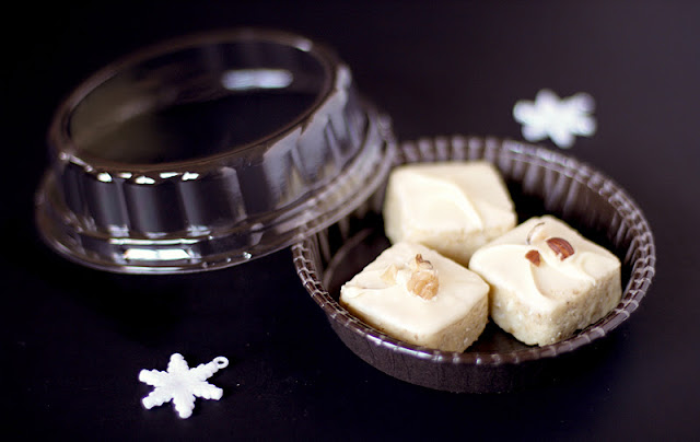 Healthy White Chocolate Coconut Petit Fours