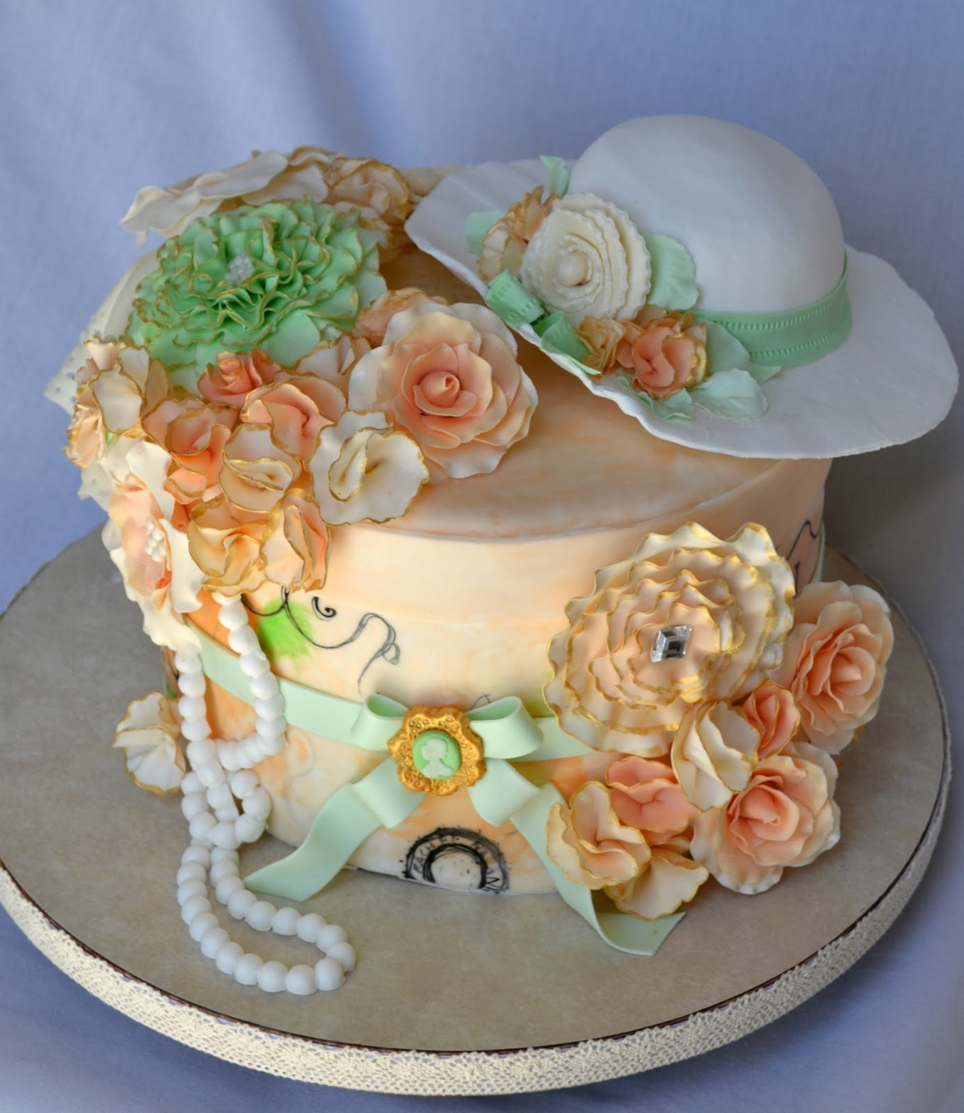 Delectable Cakes Anne of Green Gables Inspired Vintage Birthday Cake