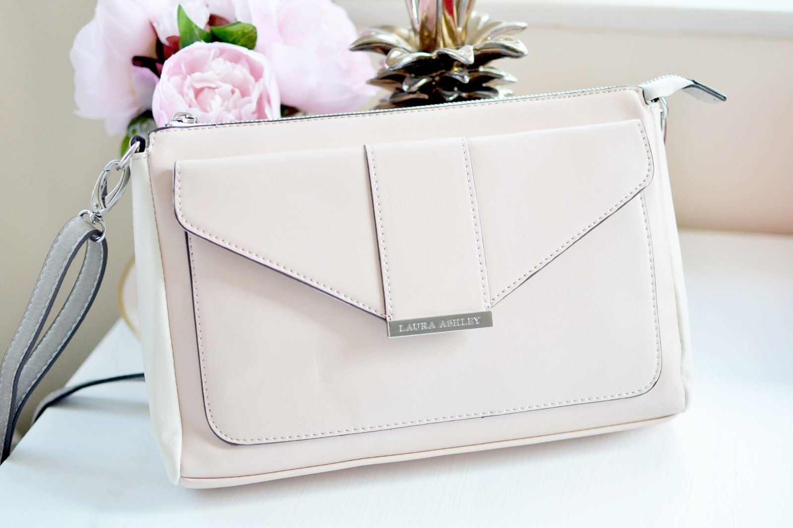 fashion blogger uk, pink bag, laura ashley bag