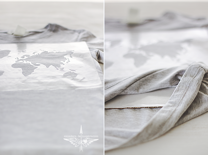DIY shirt with a map/Cazadora de inspiración © Anna Tykhonova