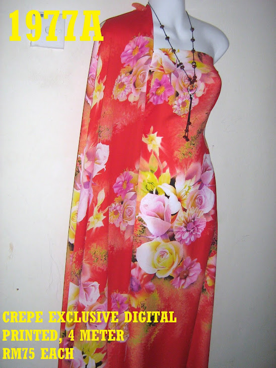 CDP 1977A: CREPE EXCLUSIVE DIGITAL PRINTED, 4 METER