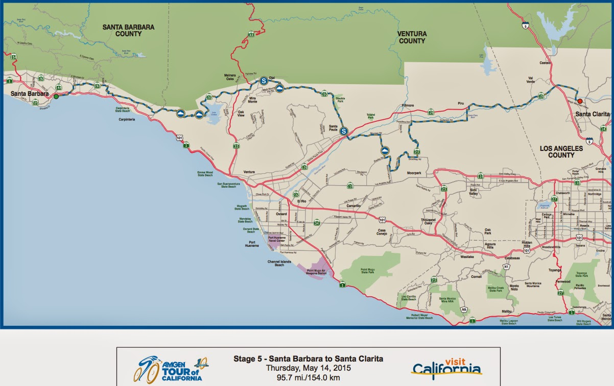Tour of California Stage 5 Map 2015