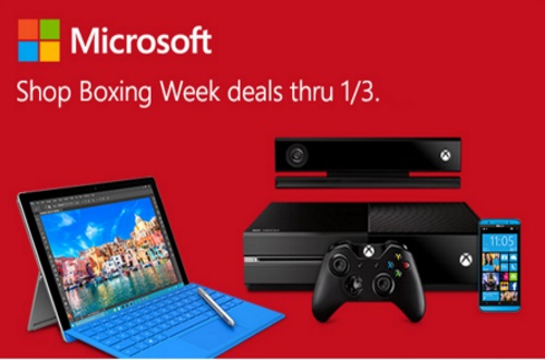 Microsoft Boxing Week Deals XBox Surface, PC and more electronics