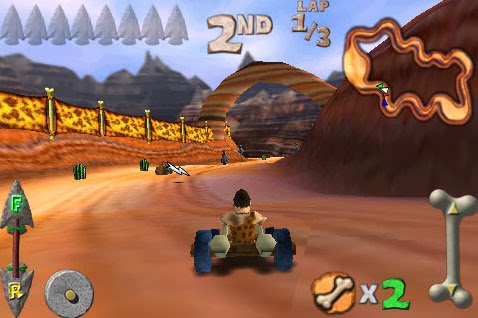 Wild kart-racer Cro-Mag Rally Android Game