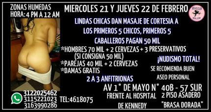 MIERCOLES 21 Y JUEVES 22 DE FEBRERO DE 4 PM A 12 AM RUMBA SWW EN KENNEDY CON LINDAS CHICAS