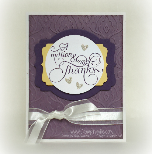 Easy and elegant! Million & One Thanks Card by Stampingville