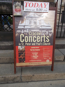 """Classical concert advertisement at """"St Peter and Paul """" Roman  catholic church ."""