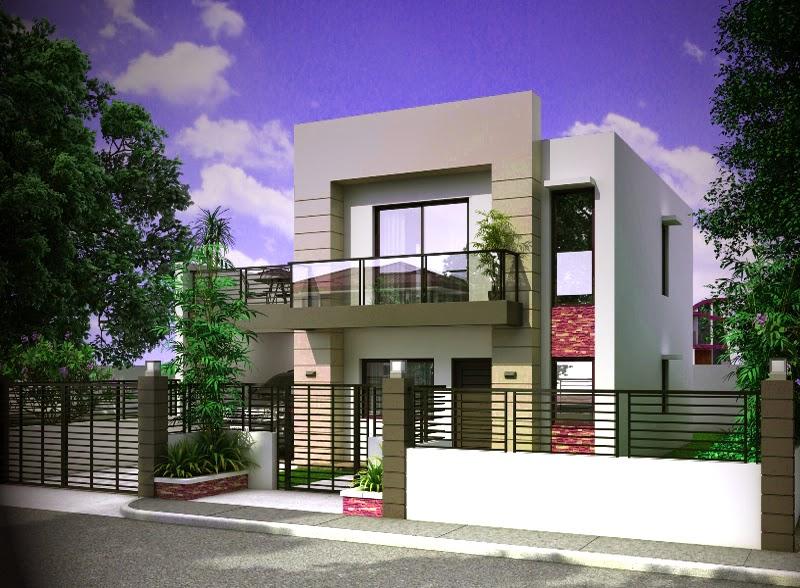 tampak samping rumah mewah minimalis 2 lantai penoy