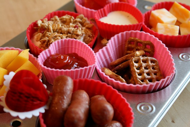 Valentines Muffin Tin Meal