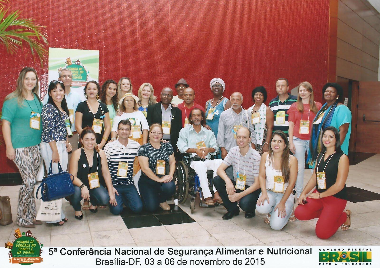 Parte da Delegação Capixaba na 5a Conf. Nacional de SAN, Nov/2015