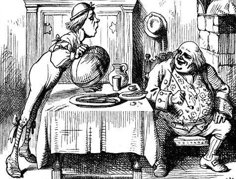 Ilustración de Padre Guillermo, de John Tenniel para Alicia en el País de las Maravillas - Cine de Escritor