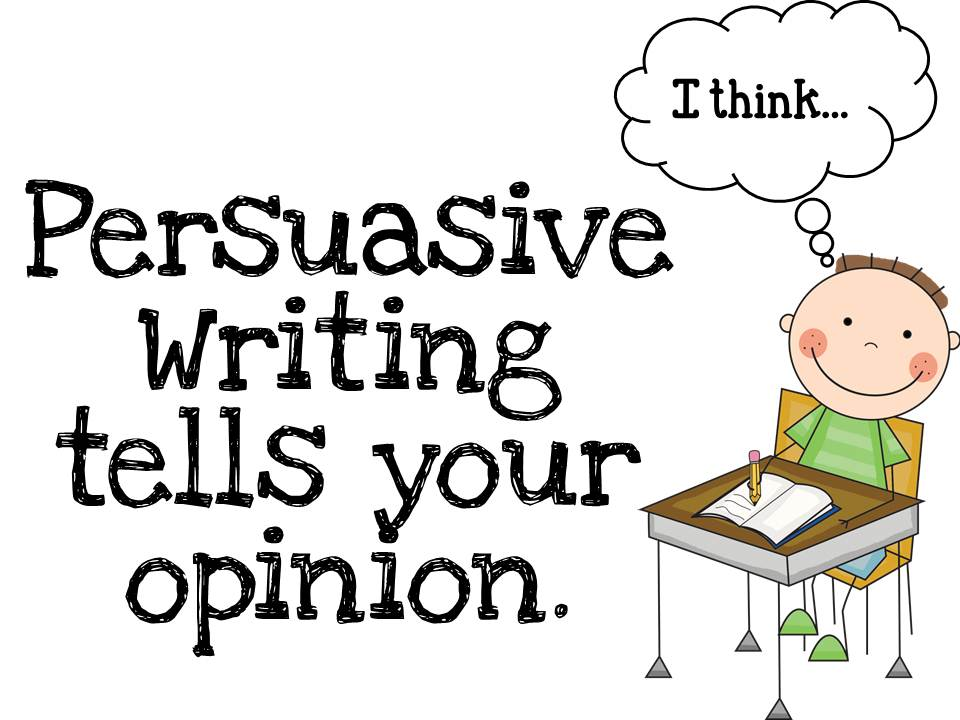 persuasive writing How to teach persuasive writing there are many ways to teach persuasive writing, and utilizing more than one approach can be good for your students not all students.