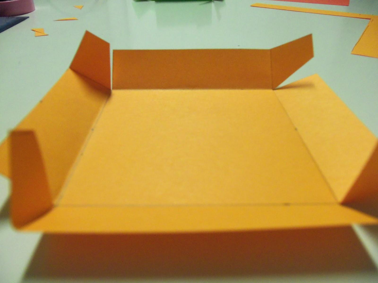 Un rinc n creativo cajita scrapbook - Como hacer una cajita con cartulina ...