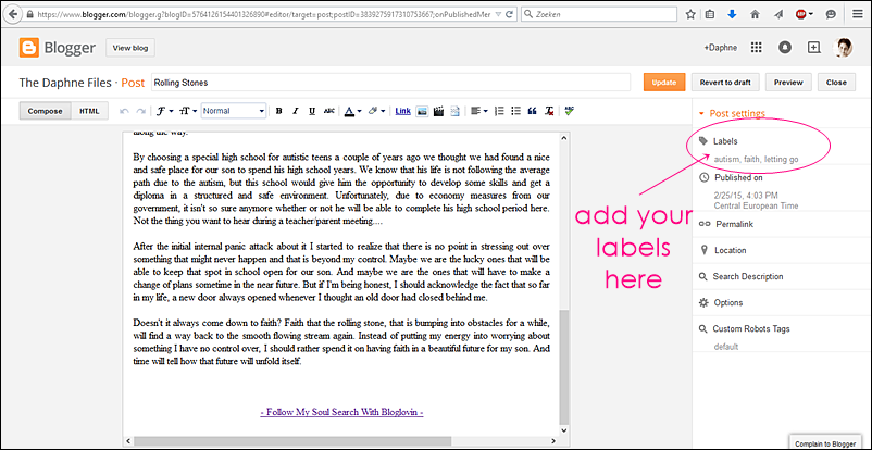 how to create pages and link them to labels in blogger the dutch