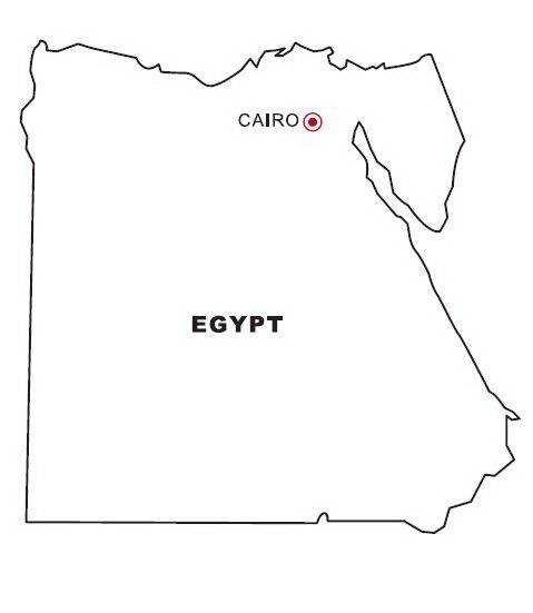 COLOREA TUS DIBUJOS: Mapa de Egipto para colorear