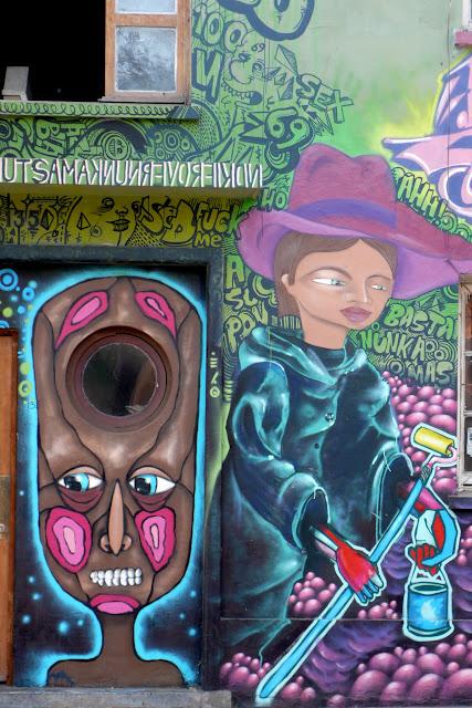 street art in santiago de chile barrio bellavista and patronato arte callejero