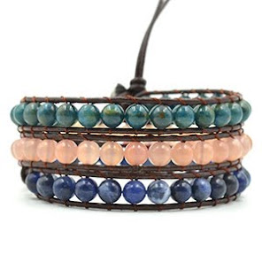 Healing Crystals Apatite Sunstone Sodalite Bracelet