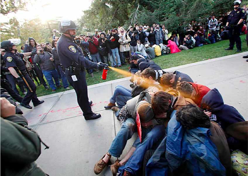 Polizei an der UC Davi...