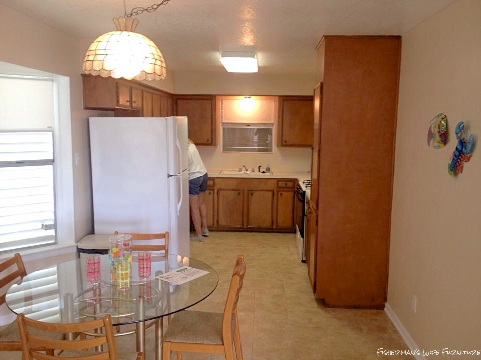 There Had To Be A Way To Make It Look Like It Belonged In The Kitchen And  Not Just Shoved At The End Of The Cabinets.