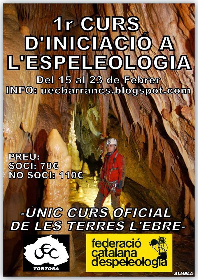 1er CURS D'INICIACIÓ D'ESPELEOLOGIA
