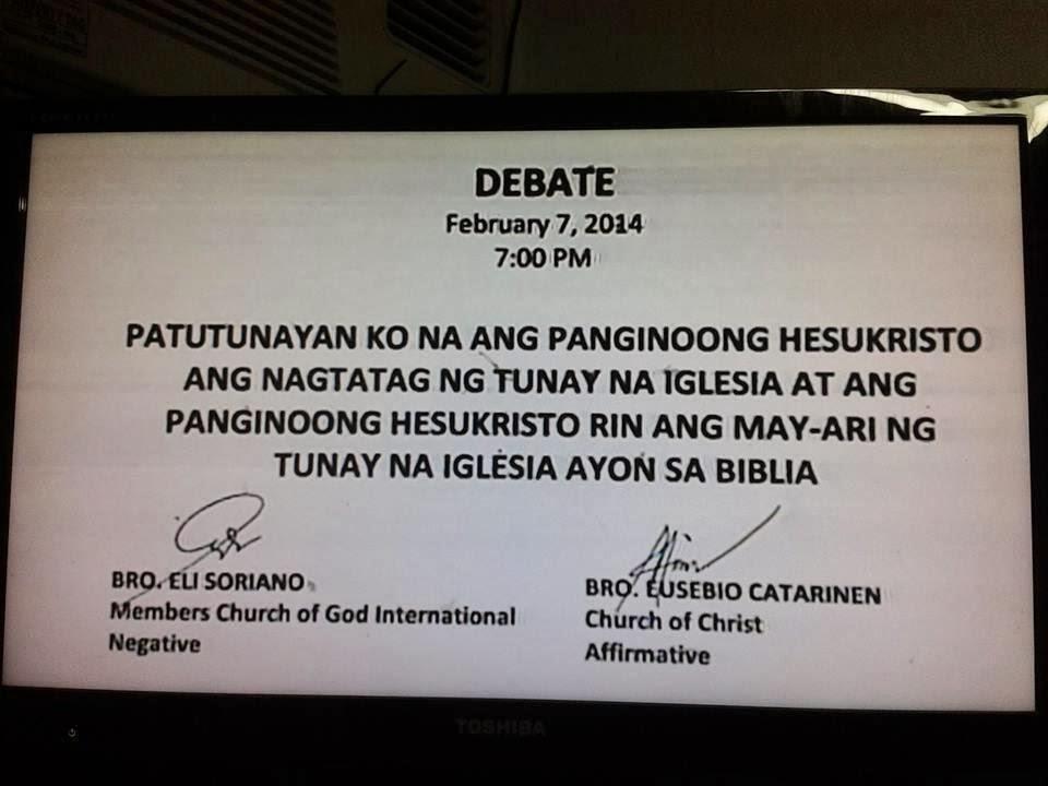 ang dating daan live debate