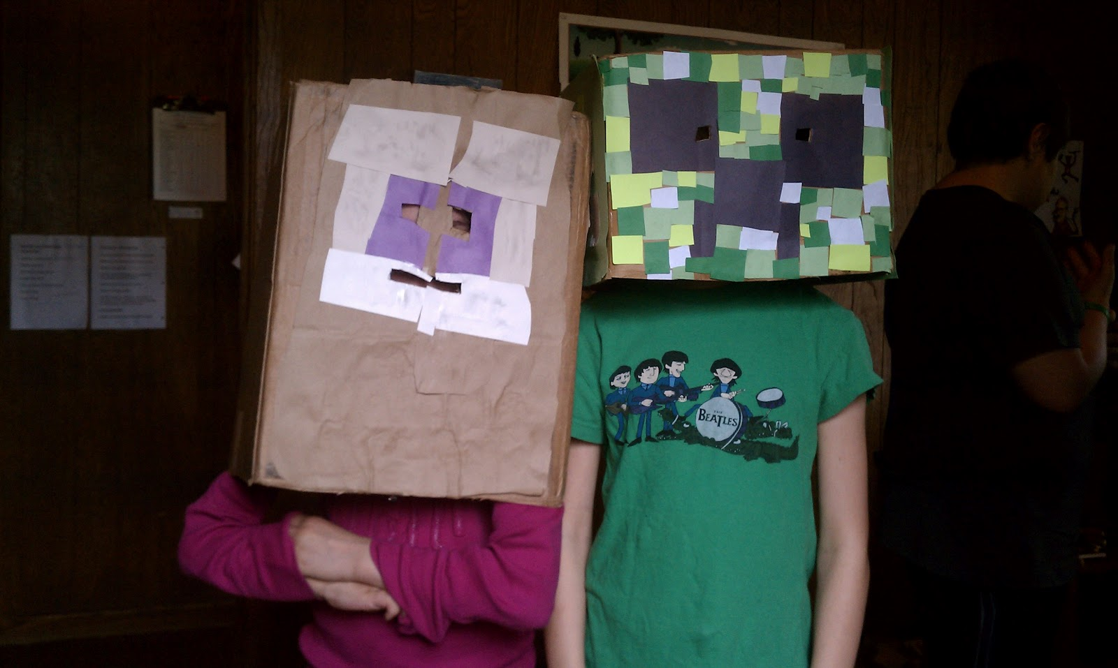 Minecraft Villager Head Costume Whole Life Learning Bl...