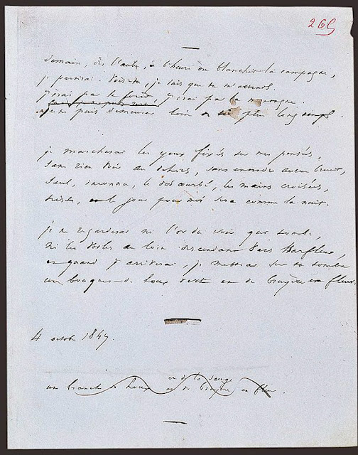 Victor Hugo's original manuscript of Tomorrow, at Dawn