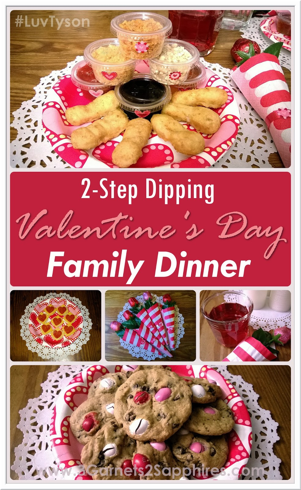 #ad: How to Have an Easy 2-Step Dipping Valentines Day Family Dinner #LuvTyson #cbias