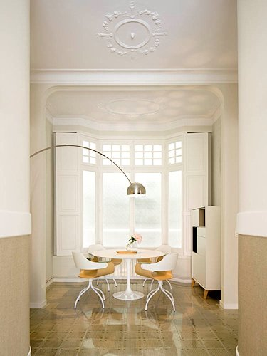 interiorismo contemporáneonen un edificio modernista