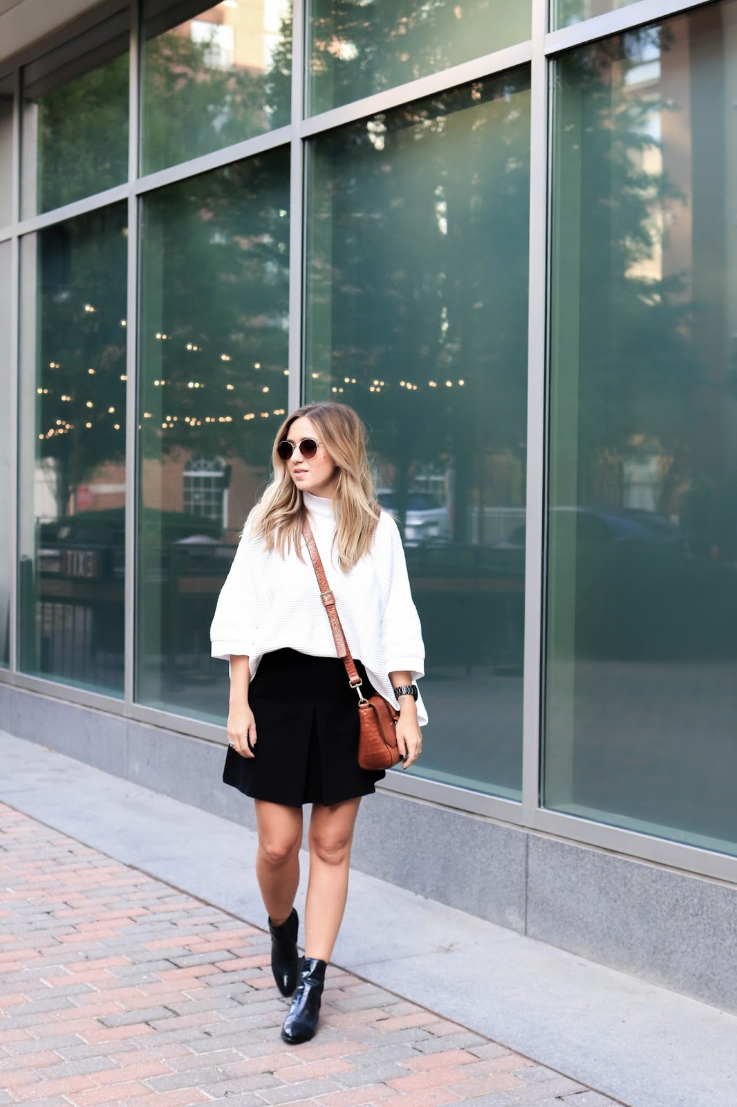 french connection, blogger, dc, stylemba, skirt, boots, dune london, fall, outfit, style