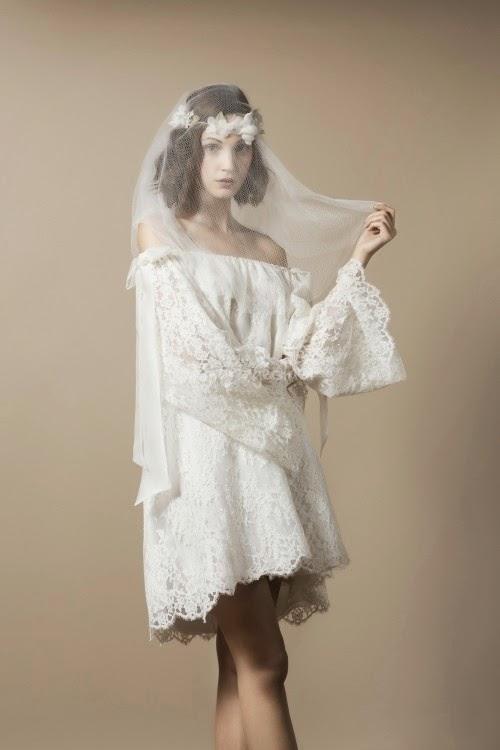 belle robe courte delphine manivet pour l\u0027été robe mariage bohème  romantique